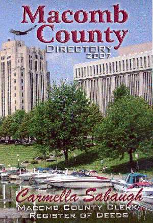 2007 Macomb County Directory Cover