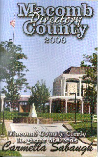 2006 Macomb County Directory Cover